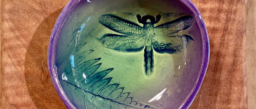 Dorothy Steele Small Sauce Bowl - Dragonfly