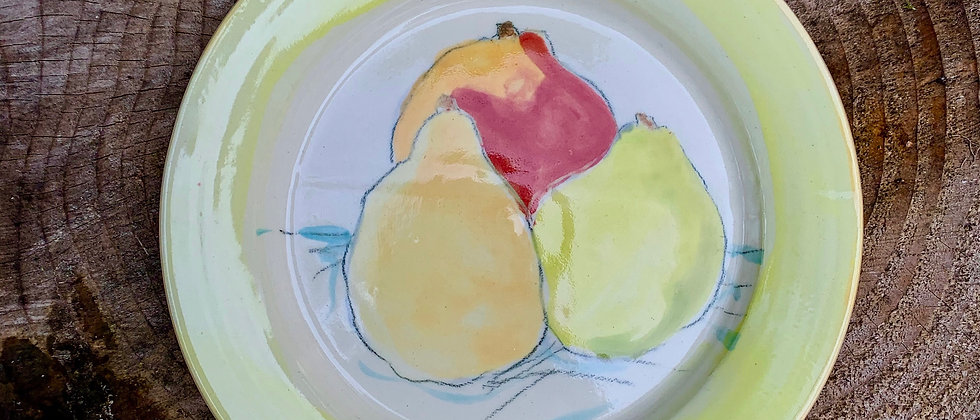 Mary Newcomer Pear Plate