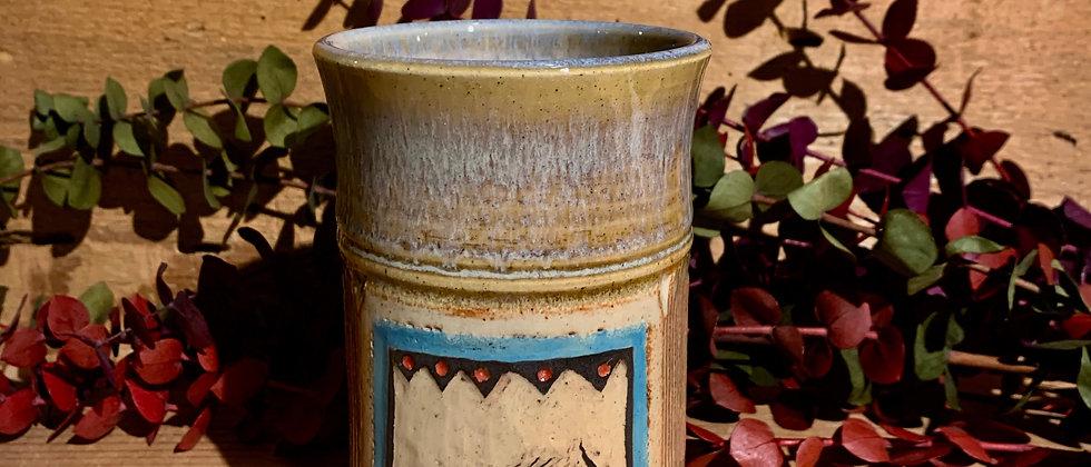 Cross Creek Clay Hand Carved Mug