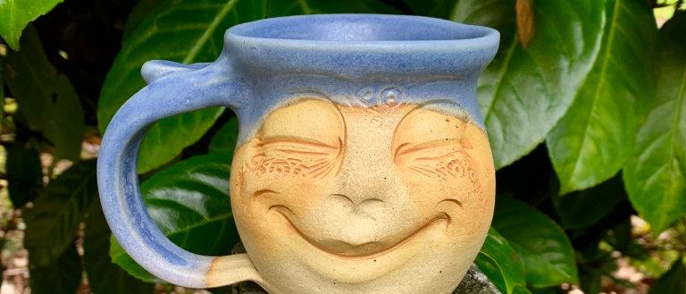 Debrah Wolf Face Mug - Blue
