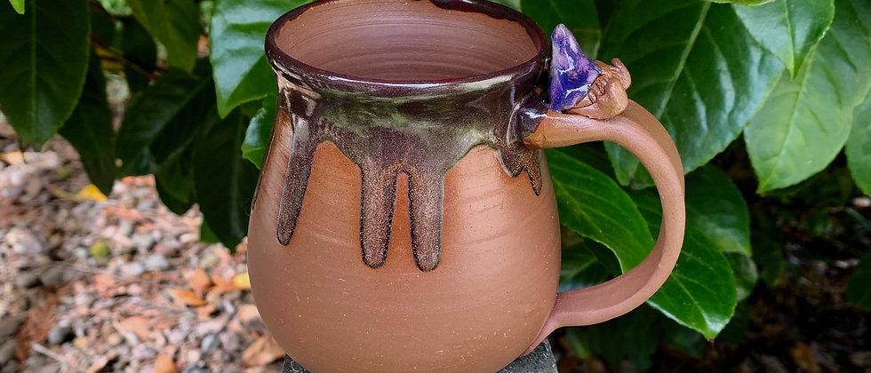 Laughin' Gnome Pottery Mug - Glitter Gnome
