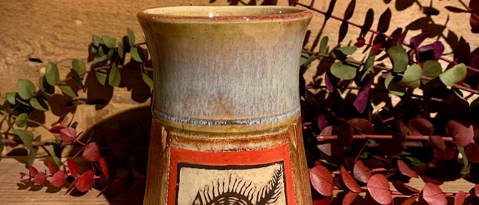 Cross Creek Clay Hand Carved Cat Mug