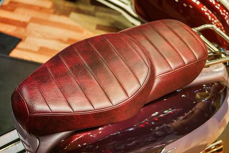 Motorcycle classic leather seat.Big Bike
