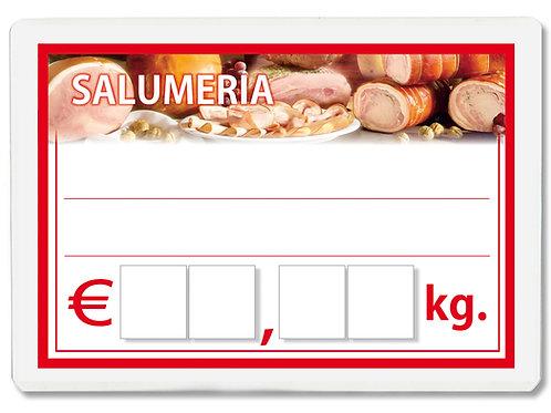 Segnaprezzi SALUMERIA SALUMI Plastificato Scrivibile (scegli q.tà/misura)