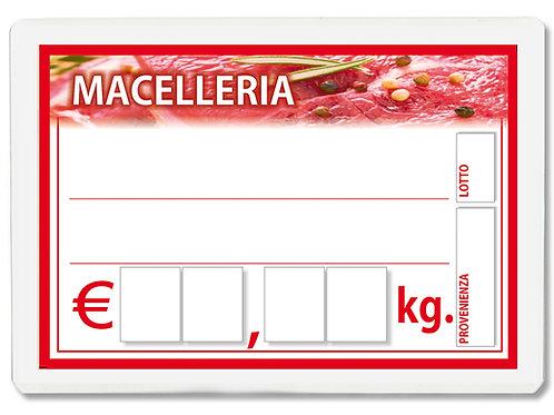 Segnaprezzi CARNE MACELLERIA CARNI Plastificato Scrivibile (scegli q.tà/misura)