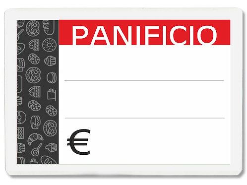 Segnaprezzi PICCOLO PANIFICIO PANETTERIA Plastificato Scrivibile (conf. 12 pz.)