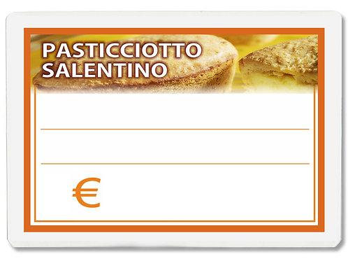 Segnaprezzi PASTICCIOTTO SALENTINO Plastificato Scrivibile (conf. 12 pz.)
