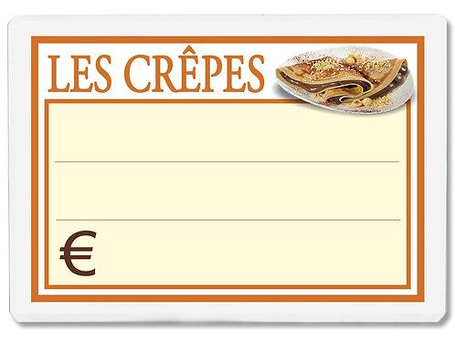 Segnaprezzi LES CREPES Plastificato Scrivibile (conf. 12 pz.)