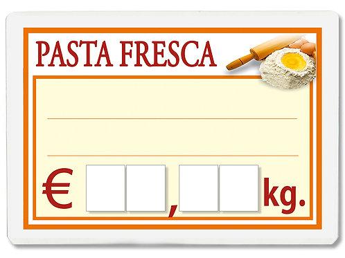 Segnaprezzi PASTA FRESCA Plastificato Scrivibile (conf. 12 pz.)