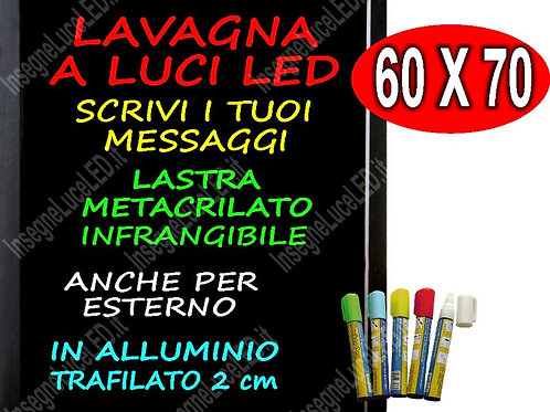 LAVAGNA LUMINOSA SCRIVIBILE A LED  Multi Board  CON 5 PENNARELLI OMAGGIO