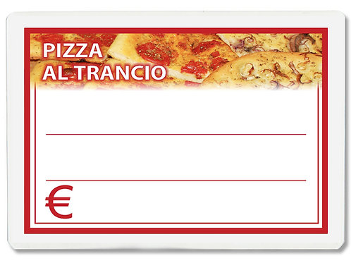 Segnaprezzi PIZZA AL TRANCIO Plastificato Scrivibile (conf. 12 pz.)