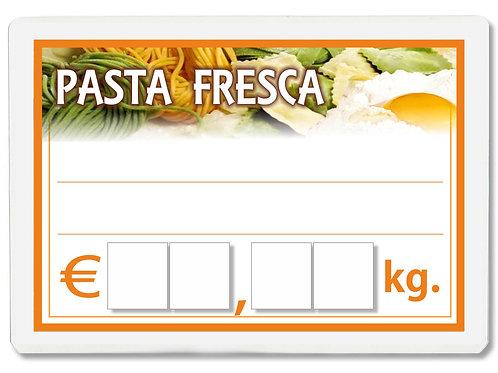 Segnaprezzi PICCOLO PASTA FRESCA Plastificato Scrivibile (conf. 12 pz.)