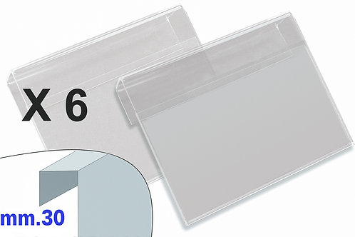 PORTAPREZZI PICCOLO plexiglass crystal aggancio mm.30 (confezione 6 pz.)
