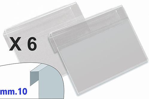 PORTAPREZZI GRANDE plexiglass crystal aggancio mm.10 (confezione 6 pz.)