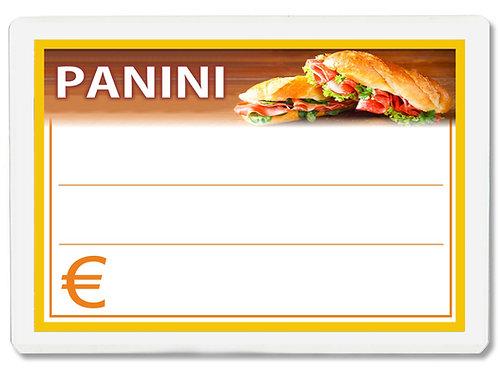 Segnaprezzi GRANDE PANINI Plastificato Scrivibile (conf. 12 pz.)