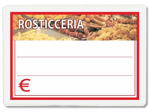Segnaprezzi ROSTICCERIA Plastificato Scrivibile (conf. 12 pz.)