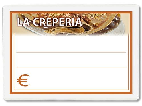 Segnaprezzi LA CREPERIA Plastificato Scrivibile (conf. 12 pz.)