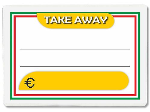 Segnaprezzi TAKE AWAY Plastificato Scrivibile (conf. 12 pz.)