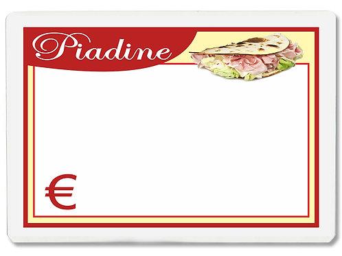 Segnaprezzi PIADINE Plastificato Scrivibile (conf. 12 pz.)