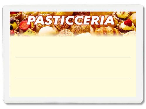 Segnaprezzi PASTICCERIA Plastificato Scrivibile (conf. 12 pz.)