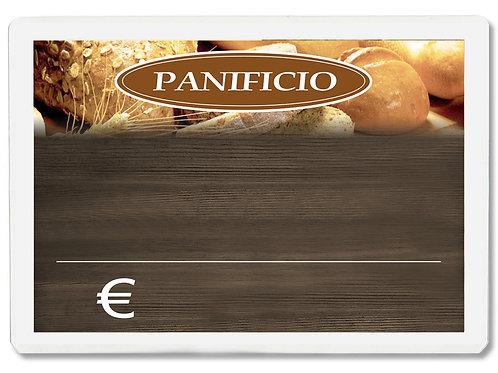Segnaprezzi PANIFICIO PANETTERIA Plastificato Scrivibile (conf.