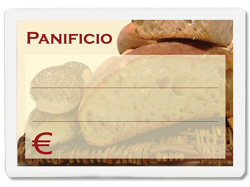 Segnaprezzi PANIFICIO PANETTERIA Plastificato Scrivibile (conf. 12 pz.)