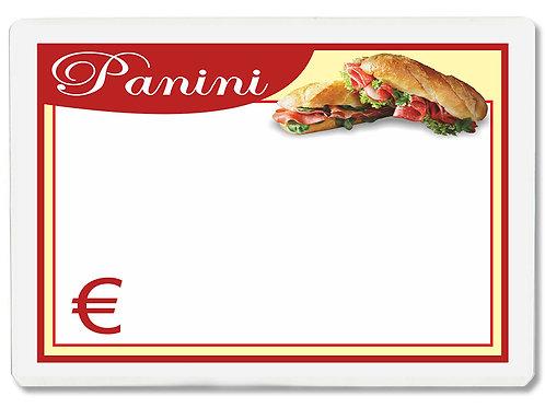 Segnaprezzi PICCOLO PANINI Plastificato Scrivibile (conf. 12 pz.)
