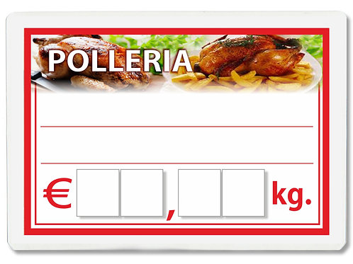 Segnaprezzi POLLERIA Plastificato Scrivibile (conf. 12 pz.)