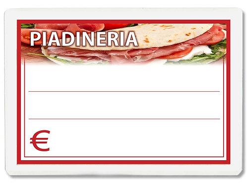 Segnaprezzi PIADINERIA Plastificato Scrivibile (conf. 12 pz.)