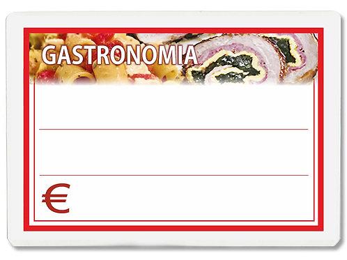 Segnaprezzi GASTRONOMIA Plastificato Scrivibile (conf. 12 pz.)