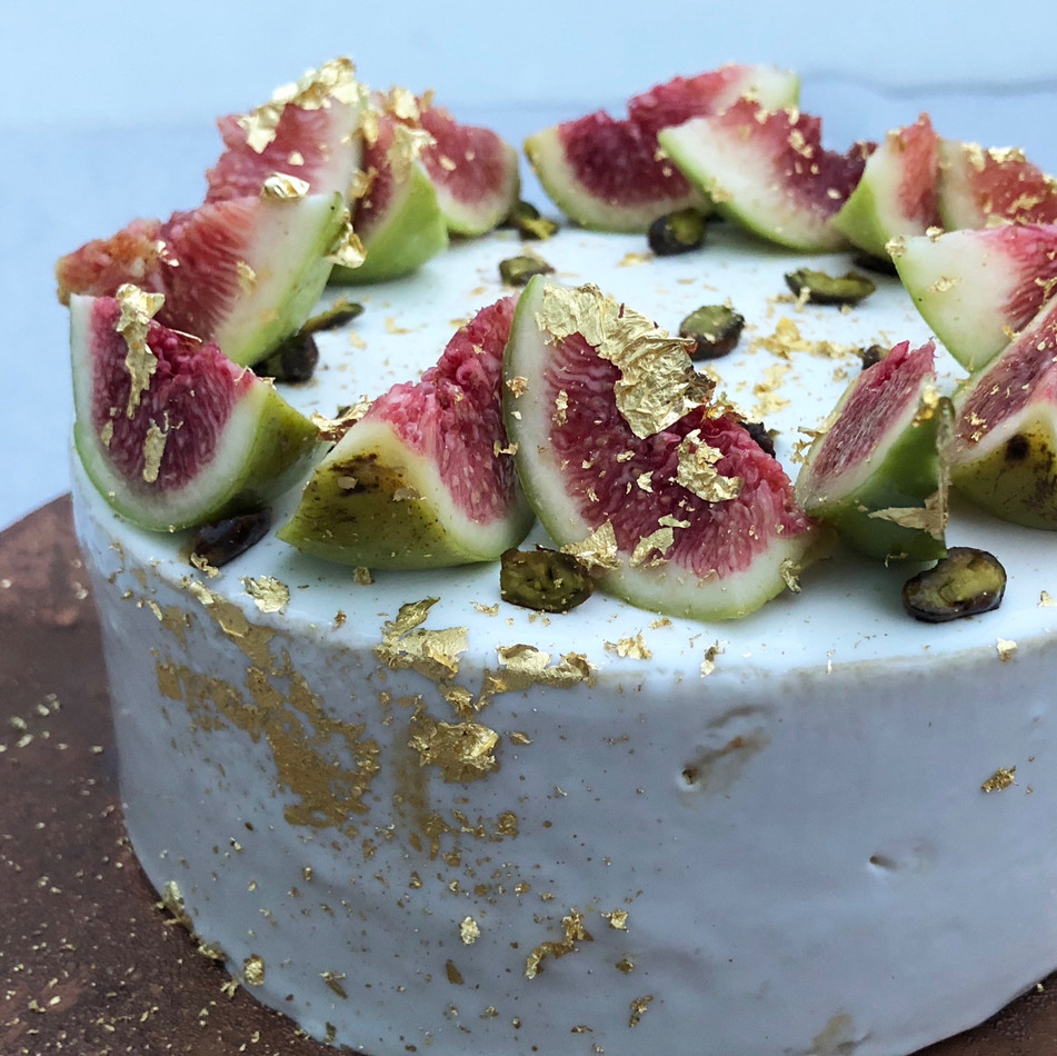 Fig and Pistachio Entremet