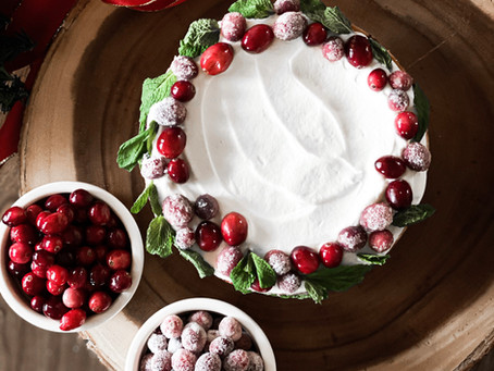 Citrus and Cranberry Christmas Cake