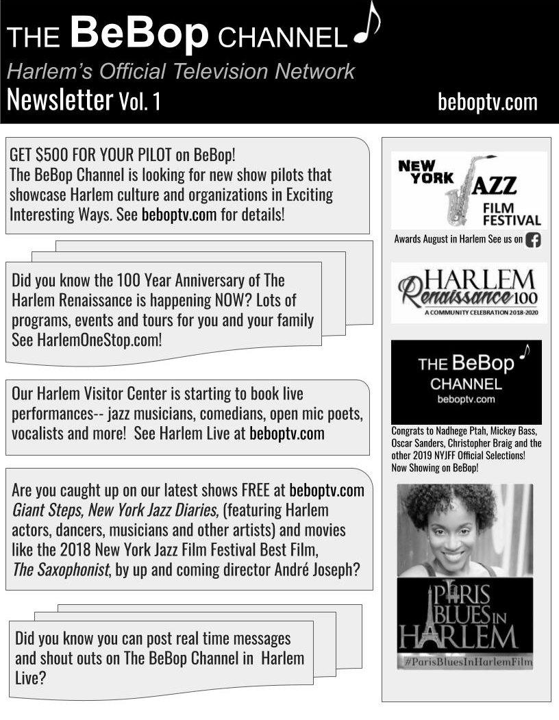 Newsletter | The BeBop Channel