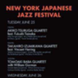 New York Japanese Jazz Festival Program.