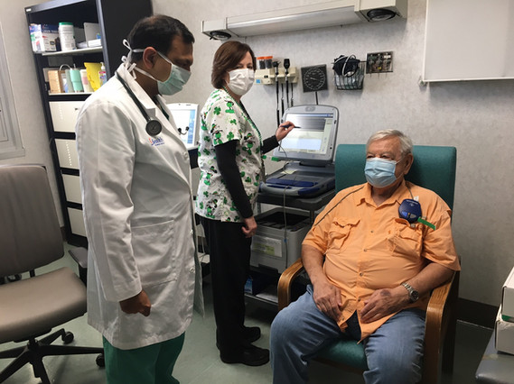Device interrogation for veterans in clinic
