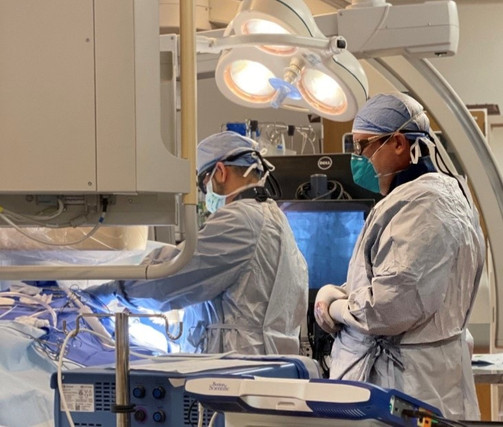 Device implantation procedure at the veteran administration medical center