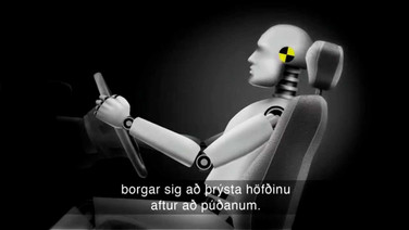 Öryggisbúnaður bíla - höfuðpúðar og sæti