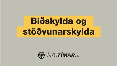Biðskylda og stöðvunarskylda