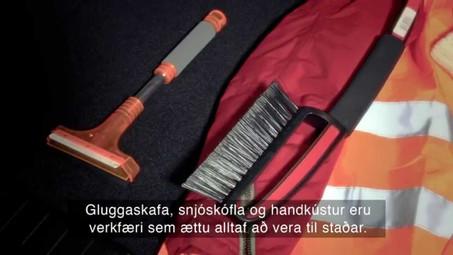 Vetrarakstur - mikilvægt að hafa meðferðis