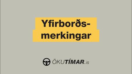 Yfirborðsmerkingar