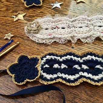 Crochet Headdress details: flowers