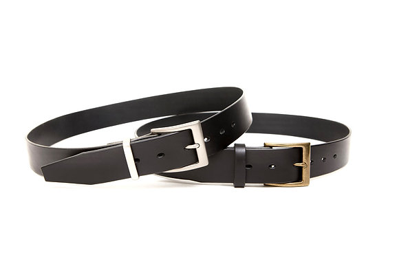 """GALI - 1.25"""" (The finest vegetable tanned French Bull hide leather belt)"""