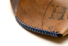 Hand cross-stitched Horween shell cordovan eyeglasses case