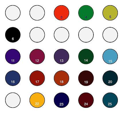 Custom leather dye color sample