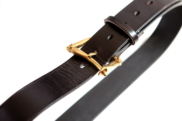 HERGÉ (Glazed Harness Leather Belt)
