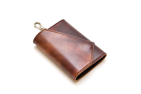 Horween Shell cordovan key case wallet