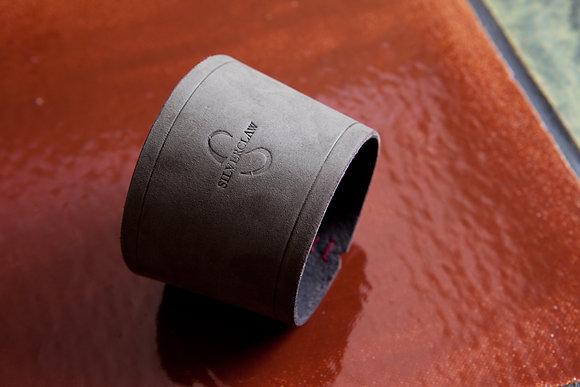 PINT GLASS/ COFFEE CUP JACKET (Nubuck leather)