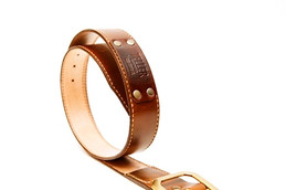 HAND-DYED VEGETABLE TANNED LEATHER BELT