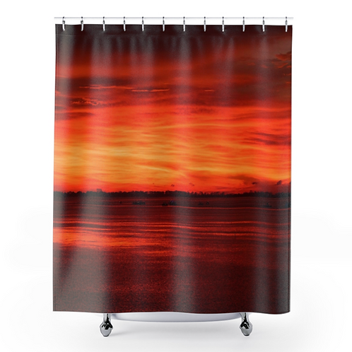 Shower Curtain with Florida Sunset