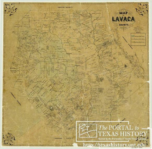 Lavaca County Map (Charles W. Pressler,